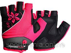 Велоперчатки женские PowerPlay 5281 Розовые XS
