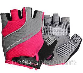 Велоперчатки женские PowerPlay 5023 Розовые S