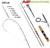 Спінінг Advantage Fishing Roi 240cm (2-8г, 3-15г, 5-20г, 5-25г, 10-30г, 15-40г) Універсальний