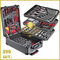 399 шт. Набор ручных профессиональных универсальных инструментов для дома и авто Top Kitchen в чемодане