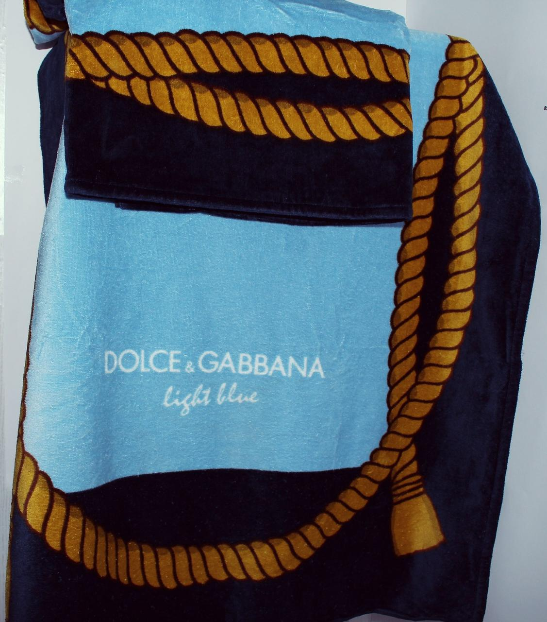 Полотенце пляжное 75x150 велюр Dolce Gabbana
