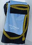 Полотенце пляжное 75x150 велюр Dolce Gabbana, фото 2