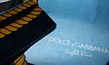 Полотенце пляжное 75x150 велюр Dolce Gabbana, фото 4