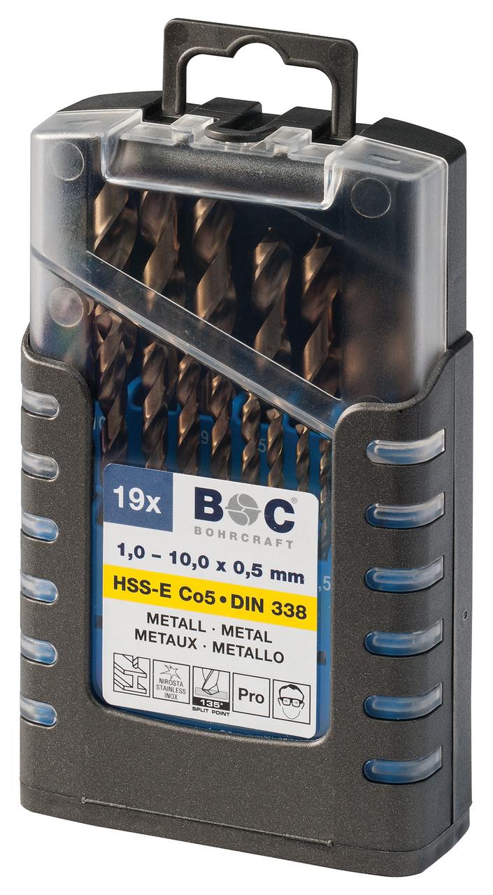 Набор сверл 1.0-10.0мм по металлу (19 шт. Co 5) Bohrcraft