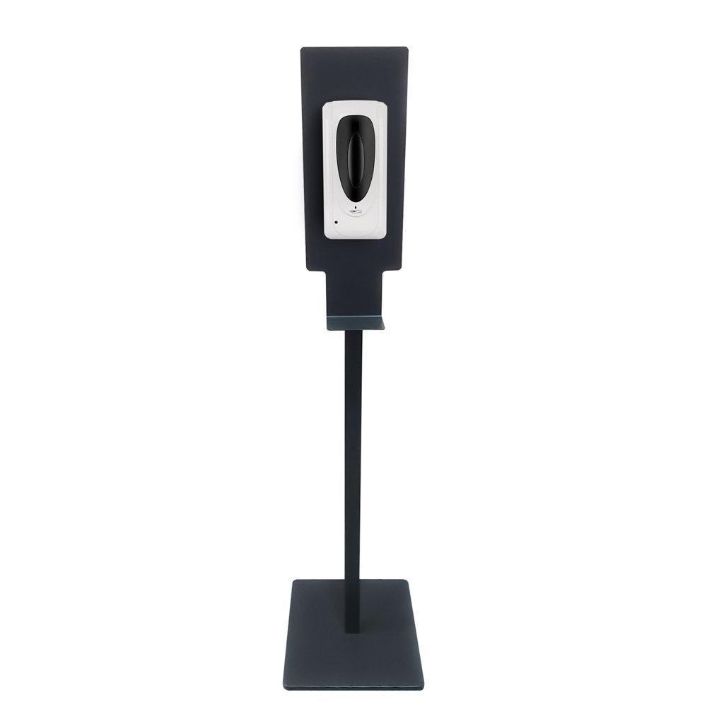 Купить Комплект напольная стойка-держатель для сенсорного дозатора дезинфекции рук черная с бесконтактным диспенсером