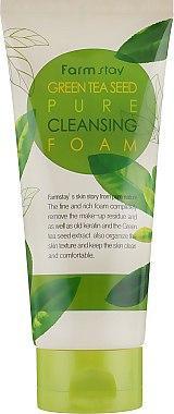 Пенка для умывания с экстрактом зеленого чая FarmStay Green Tea Seed Pure Cleansing Foam, 180ml