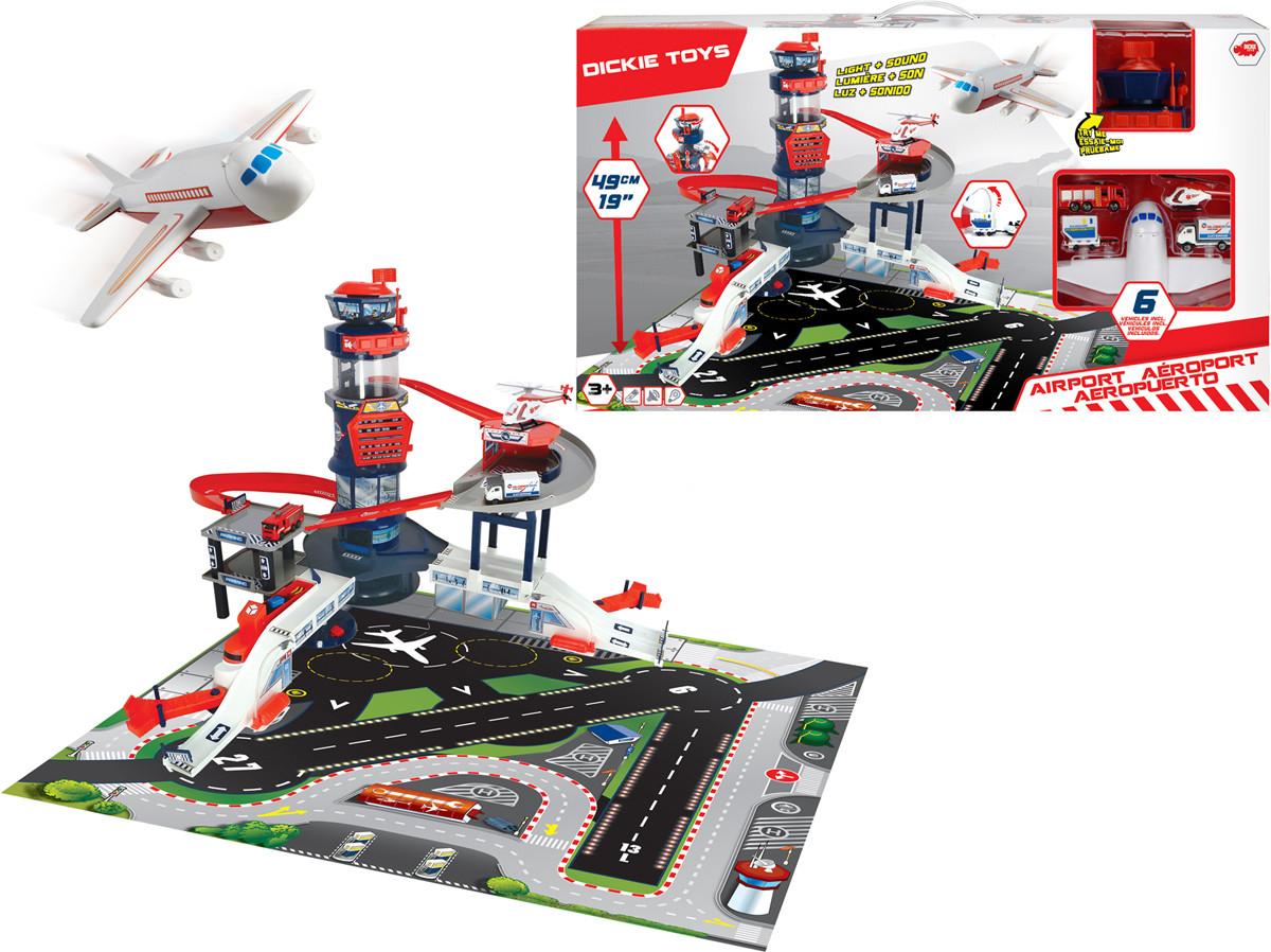 Ігровий набір Dickie Toys Аеропорт зі звуковими і світловими ефектами (3749007)