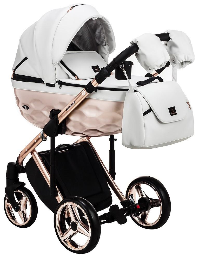 Детская универсальная коляска 2 в 1 Adamex Star Polar Star 106