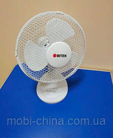"Bitek 9"" Table Fan настольный вентилятор 20W 220V, белый"