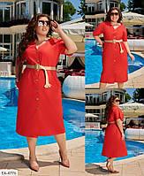 Сукня жіноча літня міді з коттону, фото 1