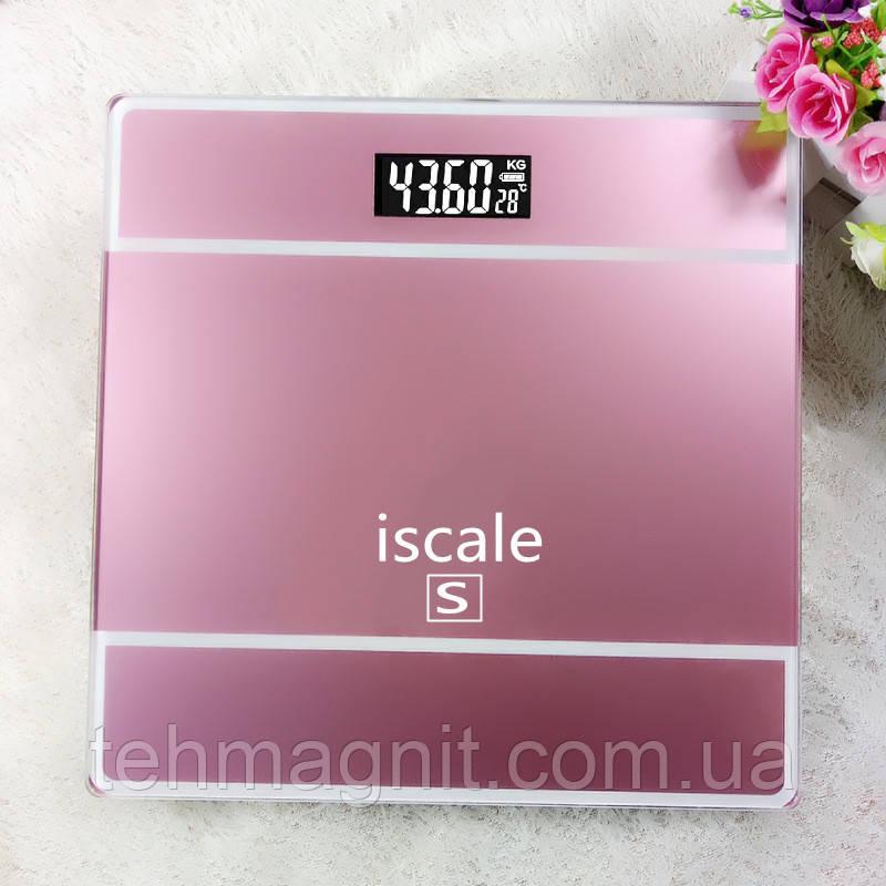 Весы напольные электронные Iscale S до 180 кг с датчиком температуры