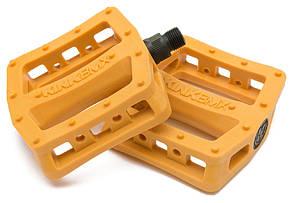 Педалі KINK BMX Hemlock пластик, помаранчеві