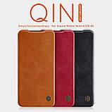 Nillkin Xiaomi Redmi Note 9 / 10X 4G Qin leather Brown case Чехол Книжка, фото 6