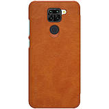 Nillkin Xiaomi Redmi Note 9 / 10X 4G Qin leather Brown case Чехол Книжка, фото 2