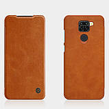 Nillkin Xiaomi Redmi Note 9 / 10X 4G Qin leather Brown case Чехол Книжка, фото 4