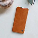 Nillkin Xiaomi Redmi Note 9 / 10X 4G Qin leather Brown case Чехол Книжка, фото 5