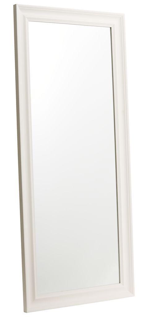 Большое прямоугольное настенное зеркало в рамке 78x180см дикий белое