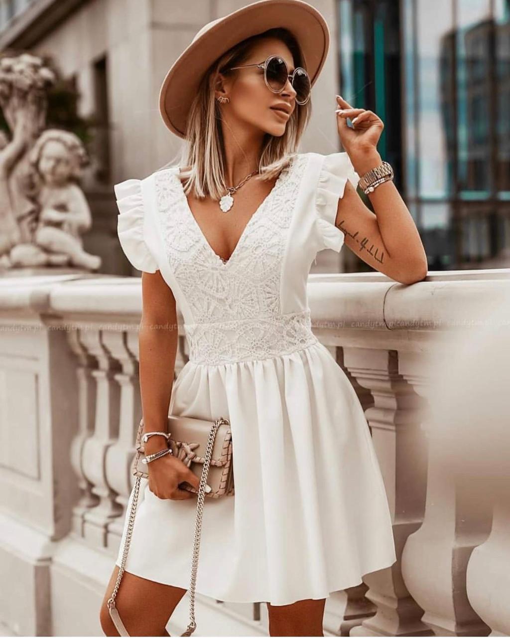 Платье с кружевом Турция Новая коллекция