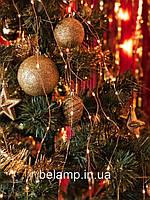 Новорічна гірлянда на ялинку кінський хвіст від сонячних батарей, фото 1