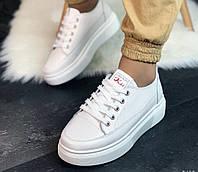 Женские белые кожаные кроссовки криперы, хит сезона!!!!, ОВ 1226, фото 1