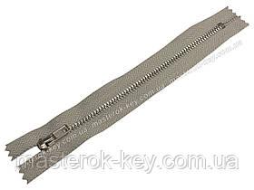 Молния джинсовая Тип 4 18см неразъемная цвет Светло-серый 576 зубья никель