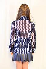 Модная, нарядная, дешевая шифоновая блуза для девочки . , фото 2