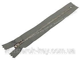 Молния джинсовая Тип 4 18см неразъемная цвет Серый 577 зубья никель