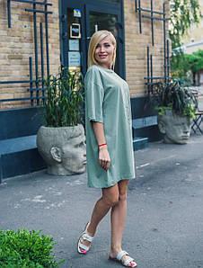 Платье oversize олива