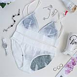 Комплект женского нижнего белья из сетки. Соблазнительный набор из лифа и трусиков, размер М, фото 4