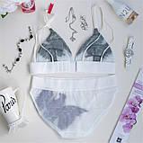 Комплект женского нижнего белья из сетки. Соблазнительный набор из лифа и трусиков, размер М, фото 5