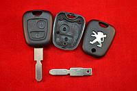 Ключ Peugeot 607, 406 лезвие NE78 Корпус ключа 2 кнопки оригинал