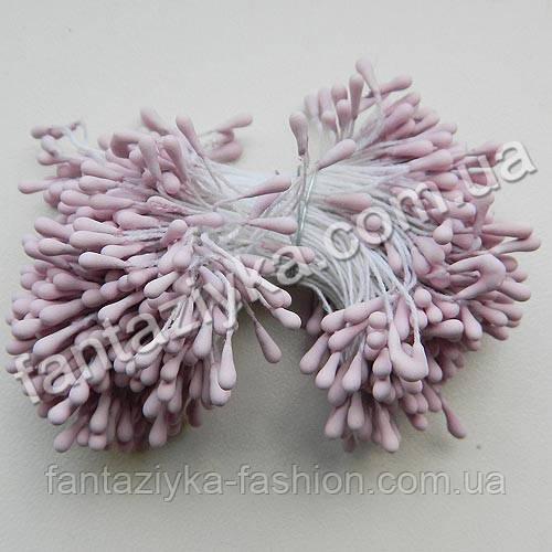 Тычинки матовые розово-сиреневые, 50 штук