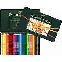 Цветные карандаши Faber-Castell Polychromos 36 цв металл.коробка