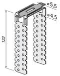 П-образный кронштейн 125мм