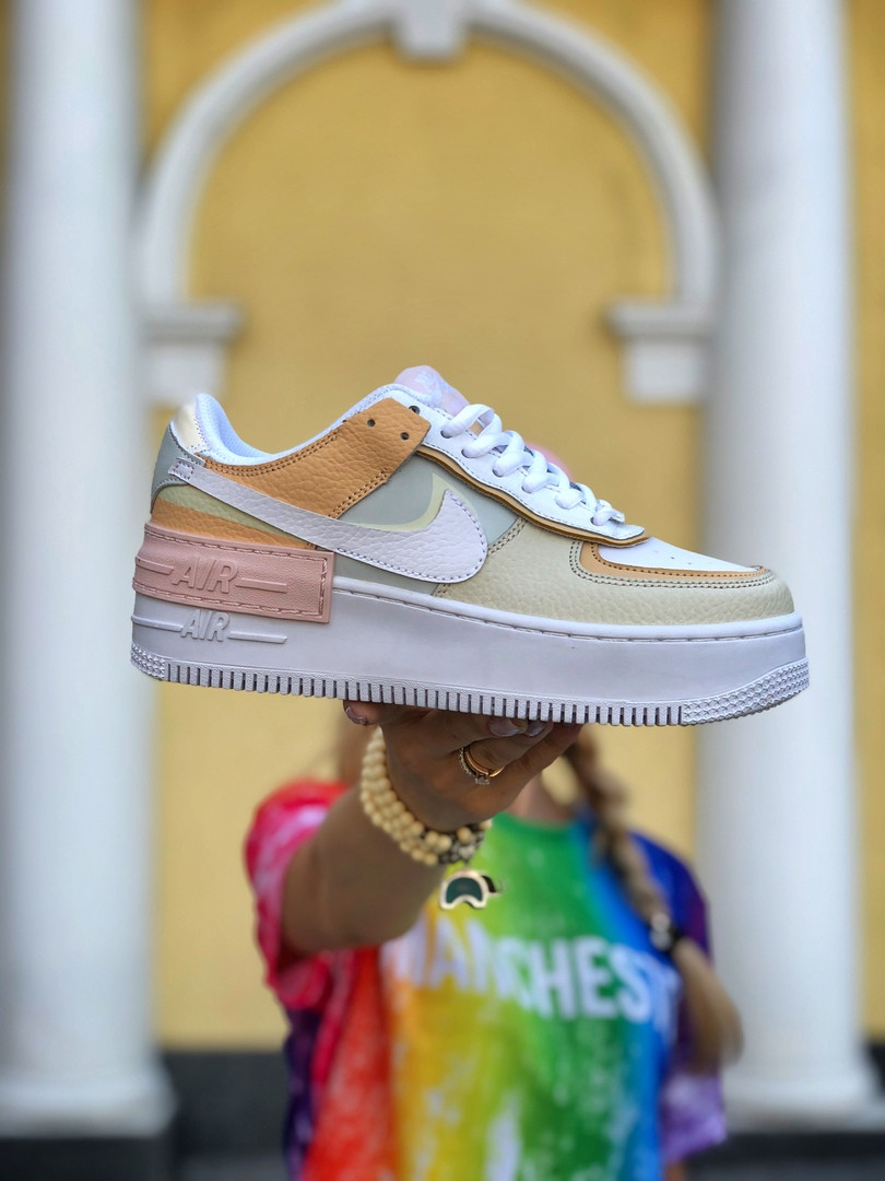 Женские  кроссовки  Air Force 1 Shadow White Grey