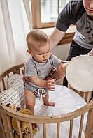 Набор для малыша - футболка и шорты в рубчик 6-12 мес (серый)