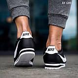 Чоловічі кросівки Nike Cortez (чорно/білі), фото 2