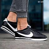 Чоловічі кросівки Nike Cortez (чорно/білі), фото 3