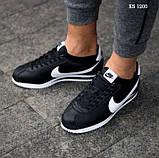 Чоловічі кросівки Nike Cortez (чорно/білі), фото 4