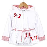 Вітрівка для дівчинки Червоні метелики Baby Rose (74)