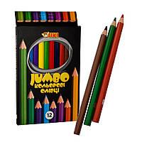 Олівці кольорові Тікі Jumbo, набір 12 шт
