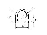 Ущільнювач гумовий монолітний, пористий, довгомірний, профіль ГТВ різної складності., фото 6