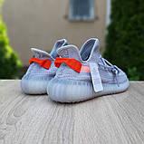 Мужские кроссовки Adidas Yeezy Boost 350 Серые с оранжевым, фото 6