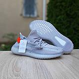 Мужские кроссовки Adidas Yeezy Boost 350 Серые с оранжевым, фото 8