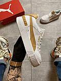 Жіночі кросівки Puma Select Cali Sport Mix Beige., фото 3