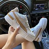 Жіночі кросівки Puma Select Cali Sport Mix Beige., фото 6