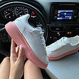 Женские кроссовки Alexander McQueen White Pink., фото 8