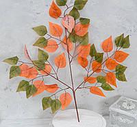Листя берези тканина осінні, фото 1
