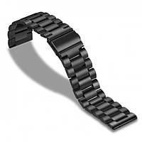 Ремешок для смарт-часов стальной BeWatch Xtra универсальный 22 мм Черный (Amaz0004)