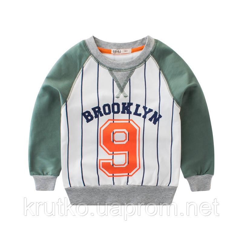 Світшот для хлопчика Бруклін, зелений 27 KIDS (90)